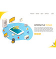 internet things landing page website vector image vector image