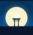 japan silhouette of attraction travel banner with vector image vector image
