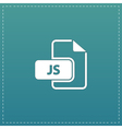 JS file extension vector image vector image