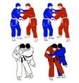 Judokas vector image