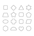 Linear thin geometric rounded shapes Heart star vector image vector image