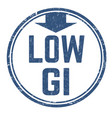 low glycemic index gi sign or stamp vector image