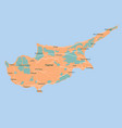 map cyprus isolated eps 10 vector image vector image