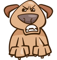 mood furious dog cartoon vector image vector image
