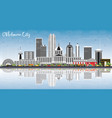 oklahoma city skyline with gray buildings blue vector image vector image