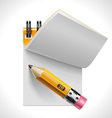 open notepad with pencil xxl icon vector image vector image