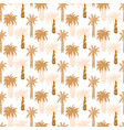 palm trees retro seamless pattern tropic vector image vector image
