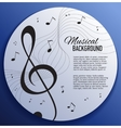 Paper background with music notes vector image vector image