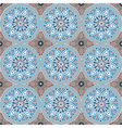 pattern with mandalas vector image vector image