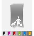 realistic design element veterinarian and dog vector image