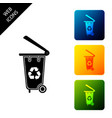 recycle bin with recycle symbol icon isolated on vector image vector image