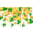 saint patricks day border with green four and vector image vector image