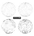 set abstract globe particles sheres vector image vector image