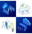set design templates cloud computing concept vector image