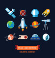 set of icons and in flat vector image vector image