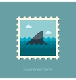 Shark fin flat stamp vector image vector image