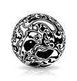 sphere in form lines marble style ink vector image vector image
