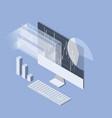 stock market analytics isometric icon - data vector image vector image