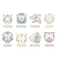 Tiger head royal badge with beautiful animal
