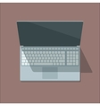 Top view laptop in flat style vector image vector image