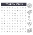 tourism line icons signs set outline vector image vector image