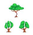 tree and nature logo set vector image