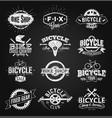 typographic bicycle label and logo chalk drawing vector image vector image