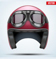 Vintage motorcycle helmet with goggles vector image vector image