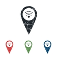Wi-Fi pointer grunge icon set vector image vector image