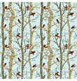 birds on trees vector image