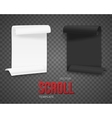 Set of Folded Black and White Paper Sheets vector image