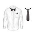 3d realistic set of male formal wear vector image