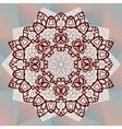 Henna colored mnandala banner vector image
