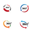 360 degree view related icons vector image vector image