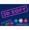 3D Copy Rubber Stamp vector image vector image