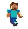 3d pixel character game hero concept game vector image