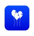 balloons icon digital blue vector image vector image