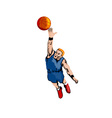 Basketball Player Dunking vector image vector image