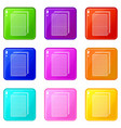 biscuit ice cream icons set 9 color collection vector image vector image