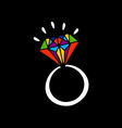 Brilliant ring vector image vector image