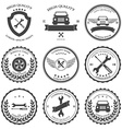 Car service Auto parts and tools Icons vector image