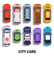 car top view city vehicle transport automobile vector image vector image