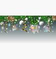 christmas balls2 vector image vector image