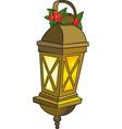 Christmas Lantern vector image vector image