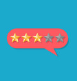 client five star experience rated vector image