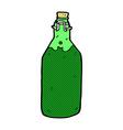 comic cartoon bottle vector image vector image