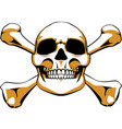 crossbones skull vector image