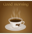 Cup of coffee with text Good morning vector image vector image