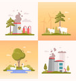eco lifestyle - set of modern flat design style vector image vector image