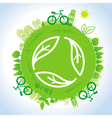 ecology concept - planet with green recycle vector image vector image